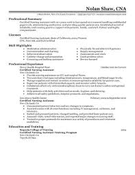 Sample Resume For Health Care Aide by Best Nursing Aide And Assistant Resume Example Livecareer