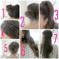 directions for easy updos for medium hair elle sees beauty blogger in atlanta a month of no heat