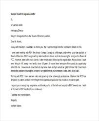 6 board resignation letters free sample example format