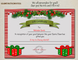 christmas gift certificate christmas trip gift certificate