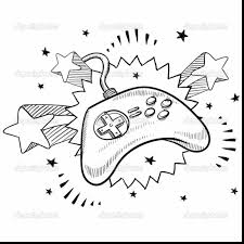 surprising game controller drawing with video game coloring pages