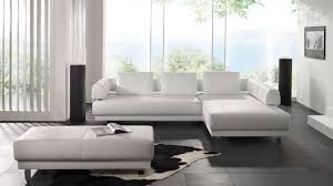 furniture stunning black white modern leather sofa living room