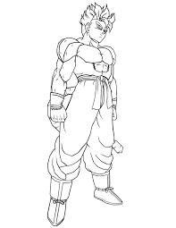 dragon ball super saiyan cartoon coloring u0026 coloring