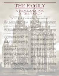 family proclamation fpp family proclamation project