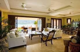 Tropical Living Room Decorating Ideas - Colonial living room design