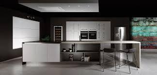 cuisine gris laque cuisine gris laqué et blanc plan de travail dekton inova cuisine