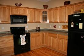 kitchen ideas with maple cabinets wall color with l shaped maple cabinet and black