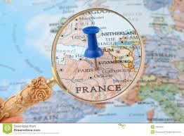 Maps Of Paris France by Paris Map Tack Stock Photos Image 1995493