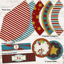custom circus invitations valerie pullam designs circus birthday party pack vintage