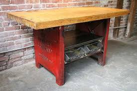 Industrial Work Table by Vintage Industrial Work Tables Handmade Charlotte