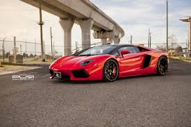 car lamborghini red red lamborghini aventador roadster with pur wheels gtspirit