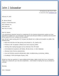 system administrator cover letter examples supplyshock org
