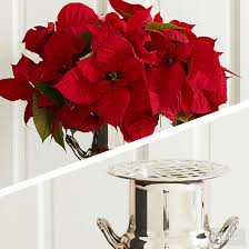 Red Flowers In A Vase Using Poinsettias As Cut Flowers