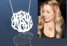 2 inch monogram necklace items similar to 1 75inch monogram necklace sterling silver