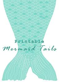 mermaid party tails letter size diy printable paper toddler