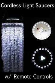 Chandelier Led Lights Remote Control Event Lighting Disc Battery Operated Light Discs