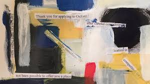 inventive student turns oxford rejection letter into painting
