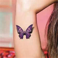 collection of 25 3d purple butterfly