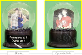 personalized snow globes accented with your own photos