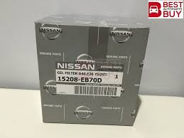 nissan genuine accessories malaysia genuine oem nissan oil filter yd22 yd25 d40 frontier navara r51m