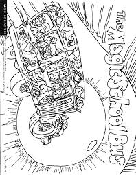the magic bus coloring pages