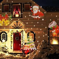 House Christmas Light Projector by Outdoor U0026 Indoor 12 Changeable Pattern Projector By Ledmall