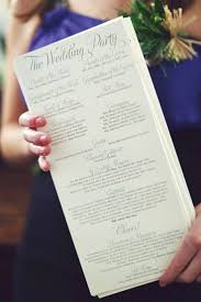 wedding ceremony program paper do you need a wedding ceremony program spoiler alert probably