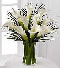 calla lilies bouquet endless elegance calla bouquet 10 stems vase included