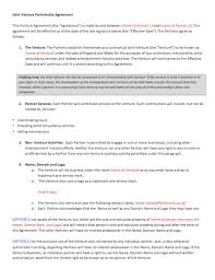 joint venture agreement docx compromise agreements