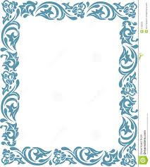 frame with floral ornaments royalty free stock photos image 1703628
