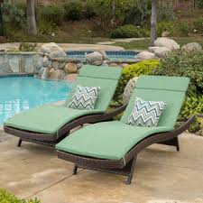 Cushions For Outdoor Chaise Lounges Wicker Patio Chaise Lounge Cushion Denise Austin Home Holborn