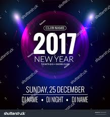 new year party christmas party poster stock vector 520563658