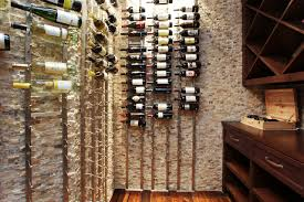 interior brick wall home wine cellar design ideas with horizontal