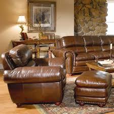 Leather Armchair With Ottoman Leather Italia Usa Aspen Leather Chair U0026 Ottoman Moore U0027s Home