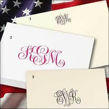 personalized stationary monogrammed personalized stationery thank you note cards