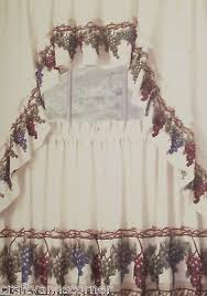 Tuscany Kitchen Curtains by Grape Vineyard Grapes Tuscany 36l Tiers Swag Kitchen Curtains Set