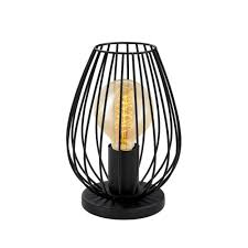 Lamp Harp Home Depot by Eglo Newtown 9 In Matte Black Table Lamp 49481a The Home Depot