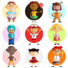 happy childrens day illustration illustration of children around