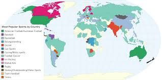 most popular sports by country