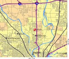 dayton map dayton zip code map my