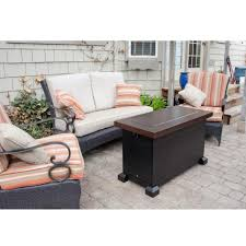 coffee table red ember richland 48 in round propane fire pit table