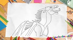 how to draw wings of fire dragons starflight easy step by step