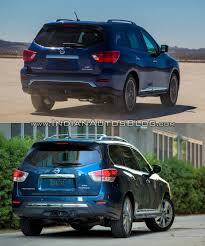 nissan pathfinder 2016 interior 2017 nissan pathfinder facelift vs 2013 nissan pathfinder rear