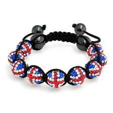 shamballa bead bracelet images Union jack british flag bead shamballa inspired bracelet 10mm jpg