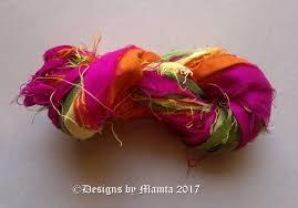 sari silk ribbon tulips flower sari silk ribbon inspirational yarns for jewelry