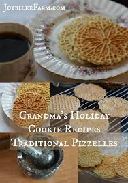 grandma u0027s holiday cookie recipes traditional pizzelles