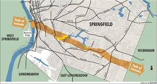 Western Massachusetts Map by Map Path Of Tornado Through Springfield Masslive Com