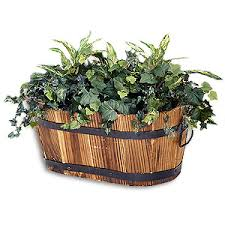 small planter small oval wooden planter