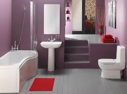 surprising small space bathroom design ideas with mauve paint