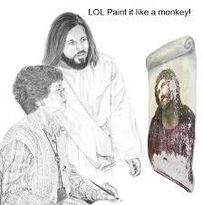 Fuck You Jesus Meme - paint it like a monkey jesus is a jerk know your meme